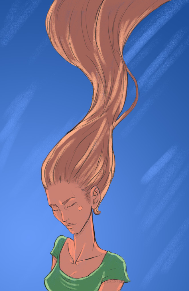 150727a Girl with Korra Hair